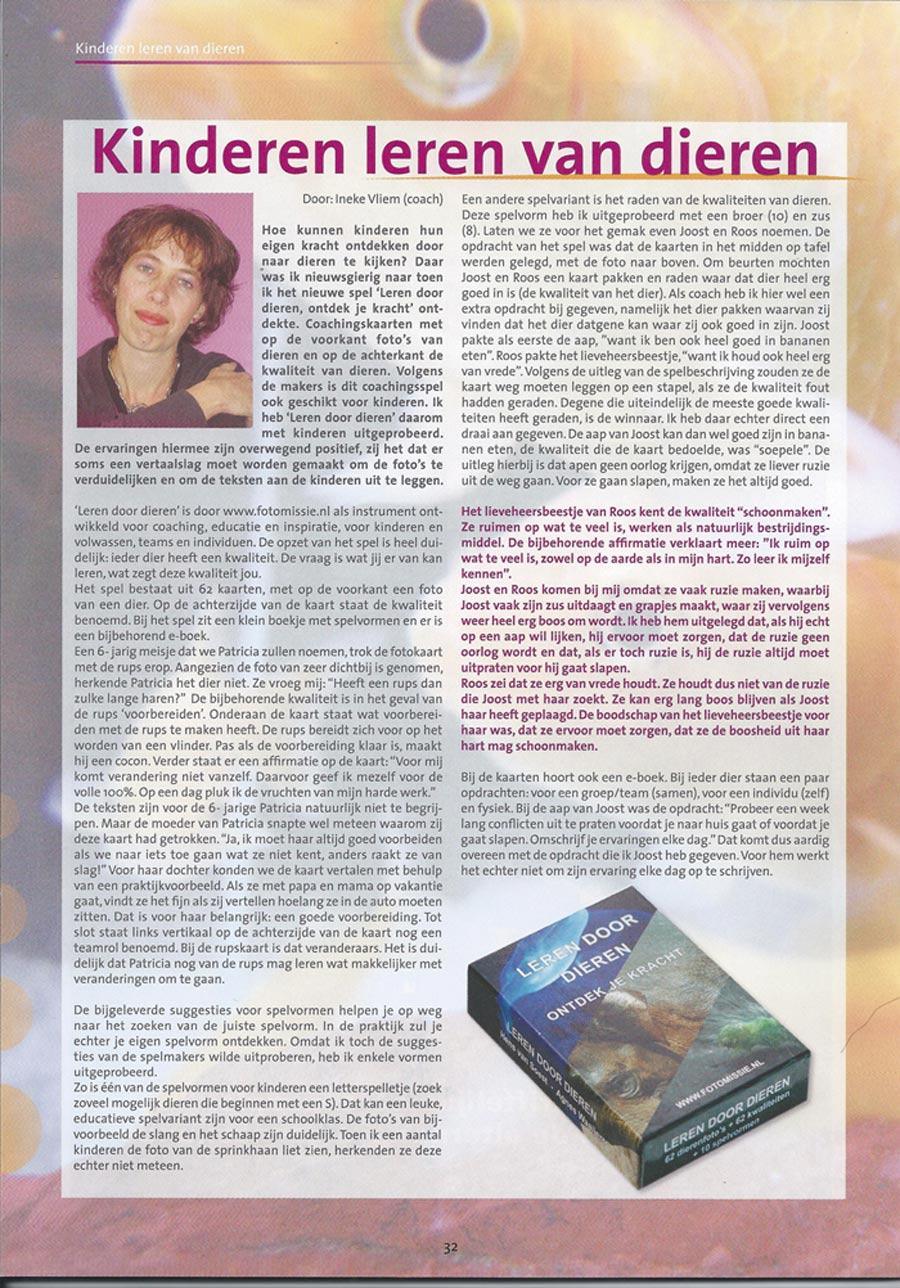 artikel uit psc - tijdschrift voor kindercoaching